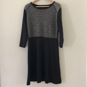 NINE WEST black long sleeve dress